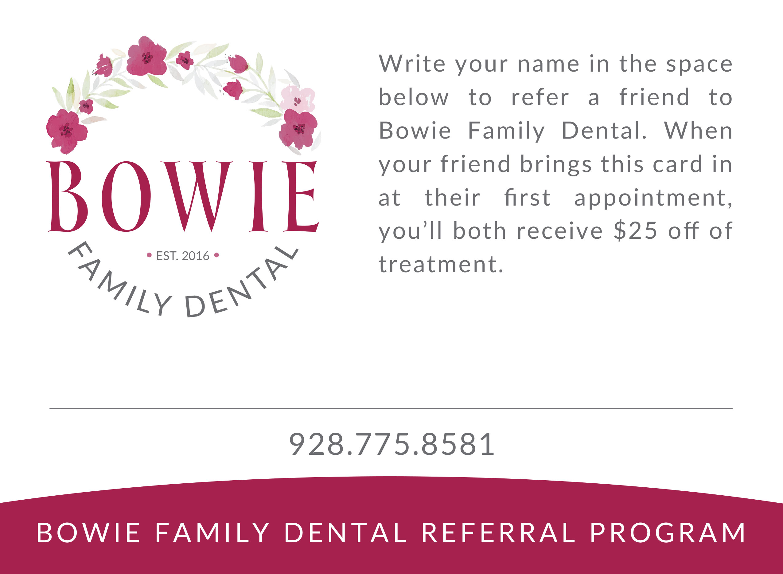 Bowie Family Dental Referral Program