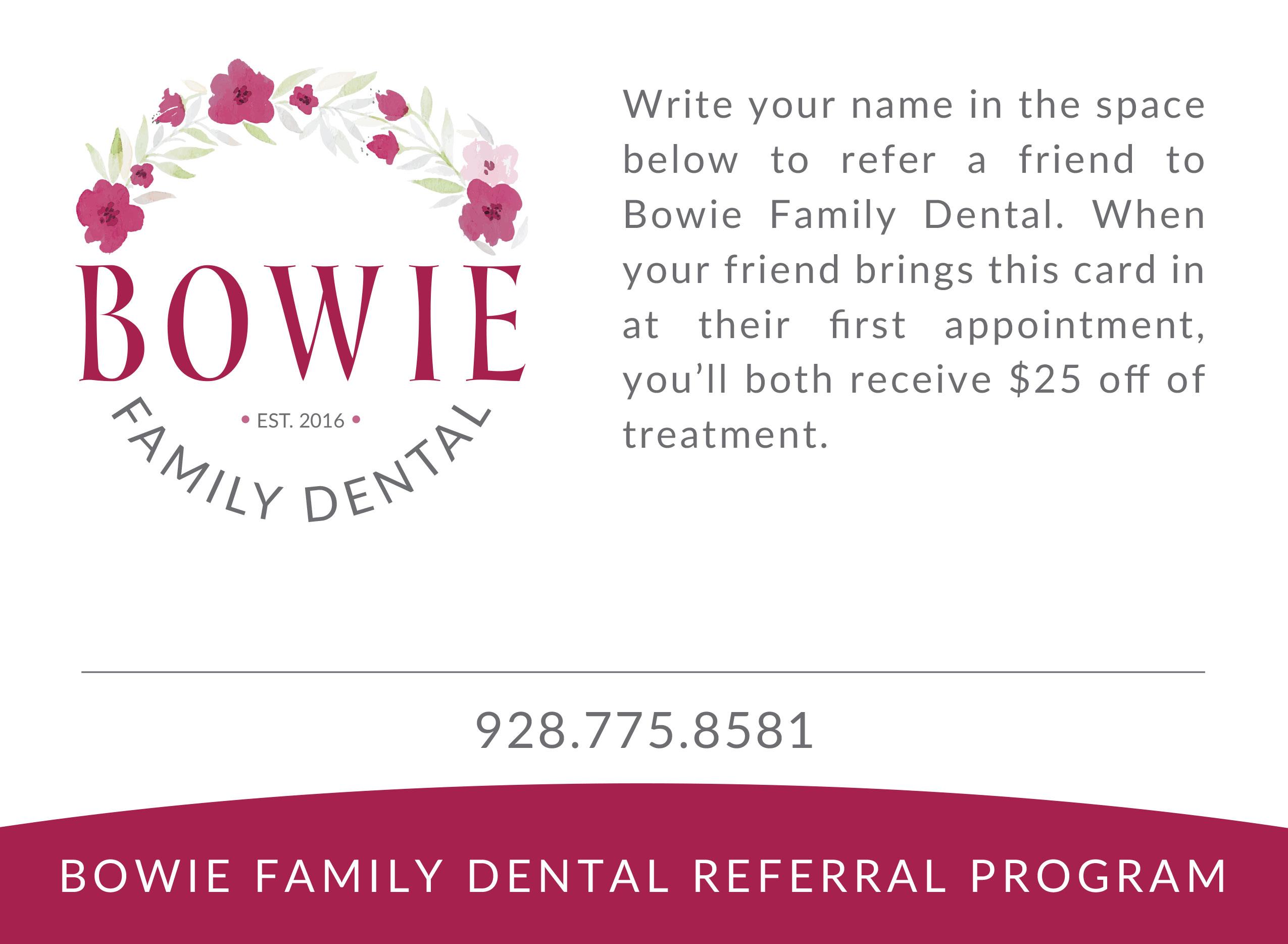 Bowie Family Dental Referral Program